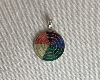 Pachamama Spiritual pendant. Mother Earth. Marked 950 Silver.
