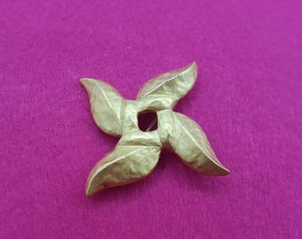 Napier  High Style Brushed  Gold tone Brooch  Mint Condition