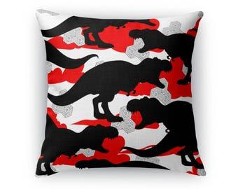 Cloud T. Rex Throw Pillow