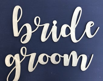 CLEARANCE thickwords- bride and groom gold