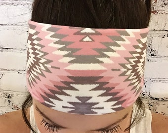 Navajo Soft Rose - Eco Friendly Yoga Headband