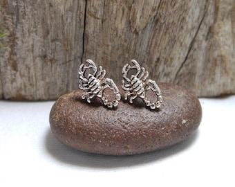 Minimalist Sterling Silver Scorpion Earrings,Scorpion Earring,Animal Earring,Stud Earring,Piercing Earring,Personalized Gifts,Scorpion