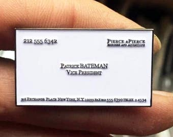 American psycho patrick bateman framed papercut enamel pin horror american psycho patrick bateman business card pop art horror art colourmoves