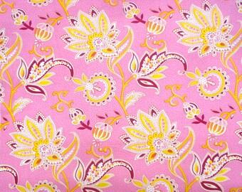 Mod Girls Nanny pink yellow Jennifer Paganelli Free Spirit fabric FQ or more