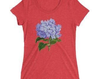 Purple Hydrangea || Women's Triblend Tee