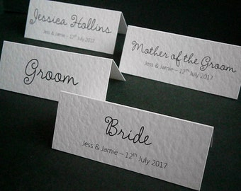 50 Personalised Wedding Place Name Cards