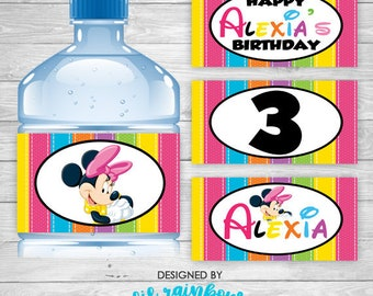 WBW-419: DIY - Minnie Mouse 3 Water Bottle Wrappers