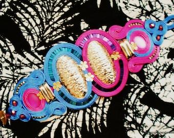 Large soutache bracelet