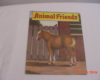 Vintage  1943 Animal Friends Children's Book  16 - 114