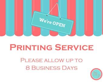 PRINTING SERVICE - Single Side Printing - Cardstock Printed ( Bs46 Bs138 bs472 bs10 TLC146 TLc140 sn34 tlc108 bs149 )