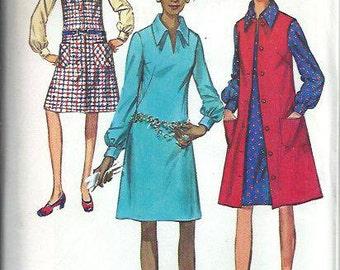 VTG Simplicity 9028 Misses Dress and Jumper Pattern, Size 18 UNCUT