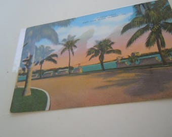 West Palm Beach Florida Postcard Flagler Drive Lake Worth