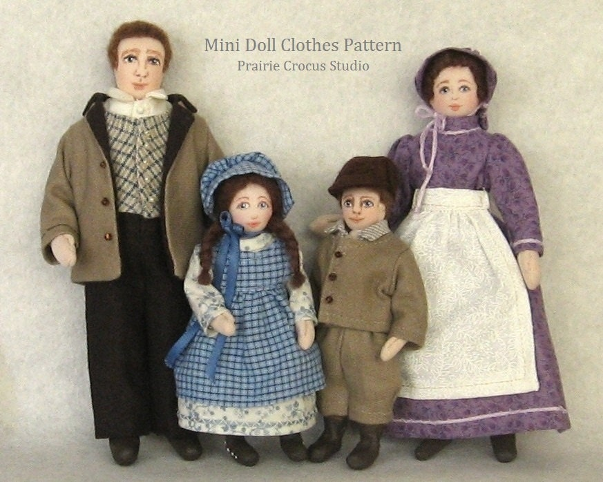 Download pattern 1:12 scale doll clothes. PDF instructions DIY