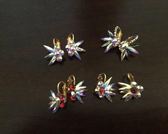 Earings, ballroom jewelry, Swarovski Crystals, bracelet, belt