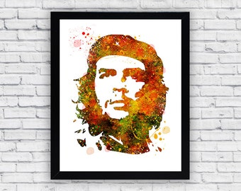 Che Guevara Watercolor Printable Wall Art, Che Guevara wall decor, Che Guevara printable poster