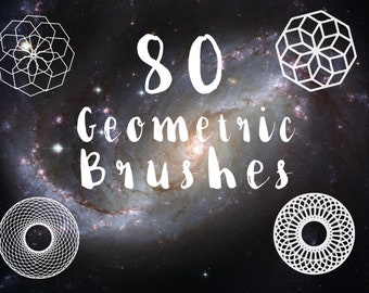 80 Geometric Brushes For Photoshop! Sacred Geometry Bundle Brushes