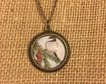 Chickadee Necklace - Wearable Art