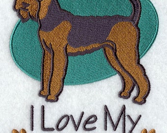 I Love My Airedale Embroidered Flour Sack Hand/Dish Towel