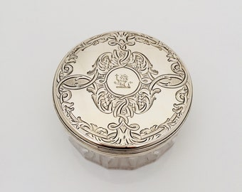 Antique Silver Capped Container.