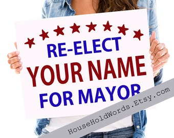 Corrugated Yard Sign, Campaign Signs, Election Signs, Presedential Election yard Signs, Custom Yard Signs, Yard Stake, 24 x 18, Political