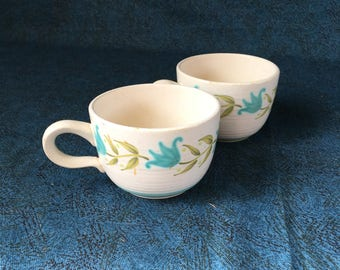 Vintage Franciscan Tulip Time Coffee Cups, Set of 2