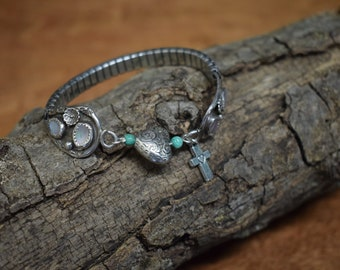 Teal and Silver Bracelet