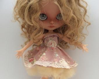 Blythe dress outfit ooak Blythe doll dress set for blythe dress with net underskirt blythe doll outfit clothes
