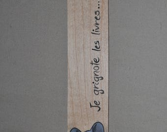 Mouse bookmark - I nibble books