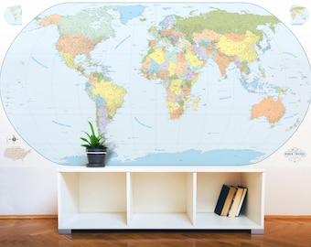 Giant world map wall decal map wall stencils abstract world giant world map mural stylish and educational world map wall art world map decal 48 gumiabroncs Image collections
