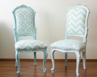 Mint Vintage French Louis XV Chairs