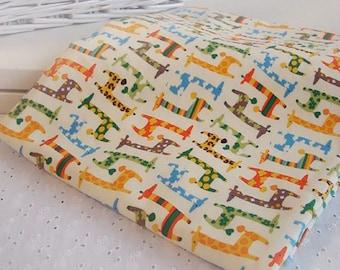 Giraffe Fabric made in Korea by Half Yard Oxford Cotton