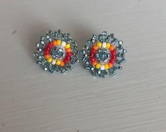 Small Sparkle Beaded Earrings