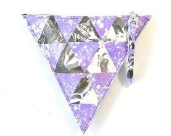 Printed Leather Triangle Purse