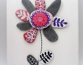 beach pebble art