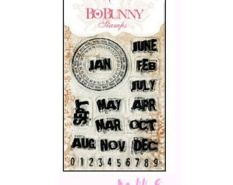 Stamps transparent year-round BO BUNNY scrapbooking 3 *.