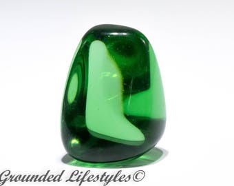 Unique Gift Gaia Stones, Green Obsidian Facetable Volcanic Glass Mt St Helen