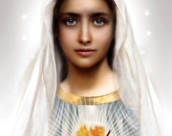 Immaculate Heart of Mary 8x10  print
