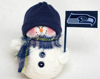 Seattle Seahawks Snowman Ornament