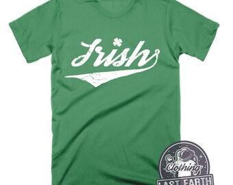 Vintage Irish Shirt St Patricks Day Shirt Mens Womens St Pattys Day Shirt Shamrock Shirt Irish Gifts TShirt Green Pub Shirt Ireland Shirt