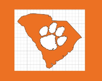 Clemson University Decal, South Carolina Decal, CU Decal
