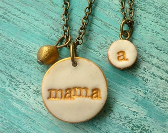 Mommy Daughter necklaces - Mother Daughter Necklace Duo - Mom Daughter Necklace set