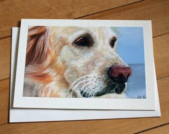 Golden Retriever Greeting Card, My Best Friend, Blank Greeting Card, Note Card, Art Card, Any Occasion, Birthday Card, Painting, Dog