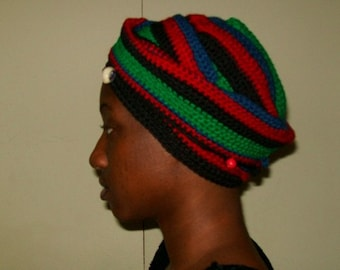 My African Clone, Crochet African Beaded Headwrap