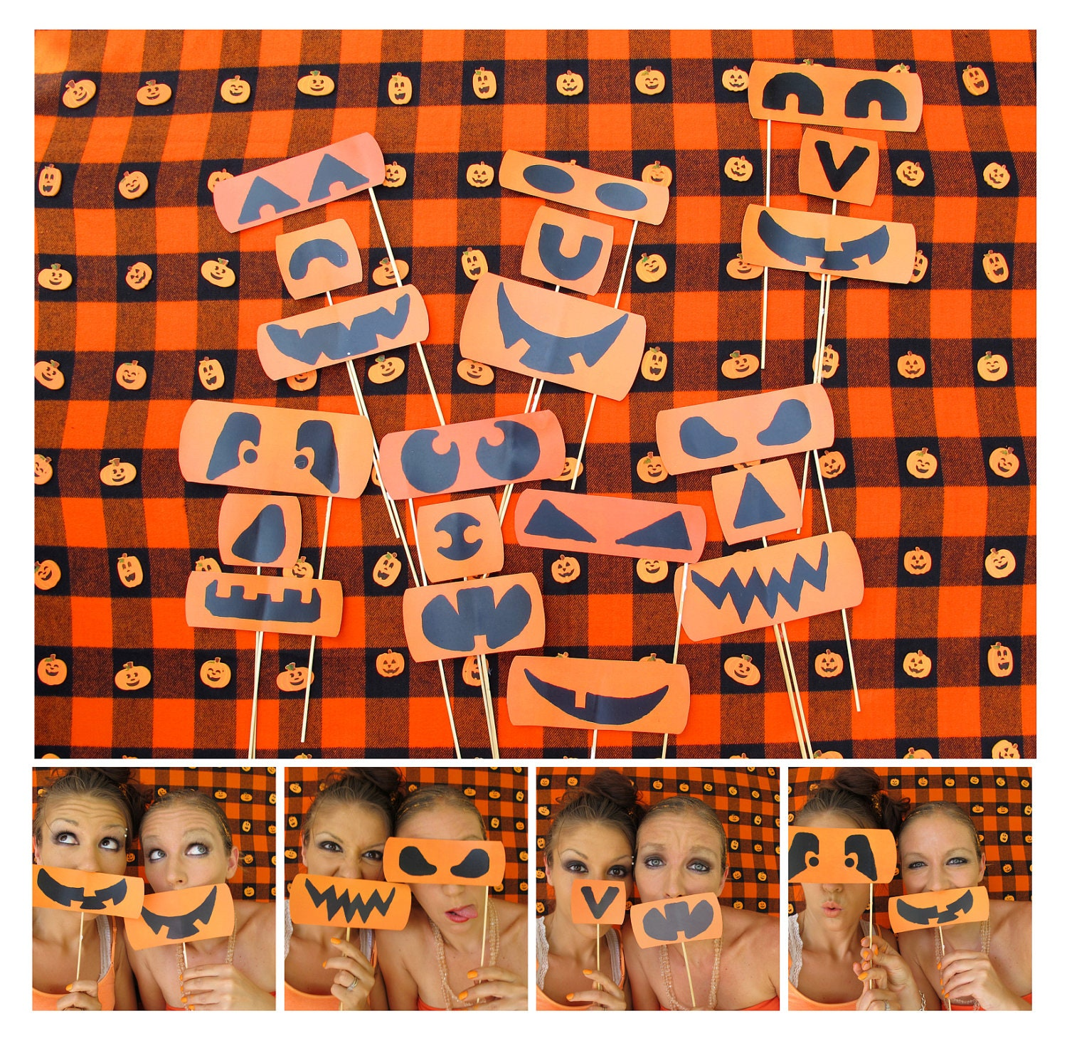 the different kind of halloween photo booth props pumpkin