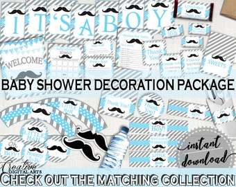 Decorations, Baby Shower Decorations, Mustache ...