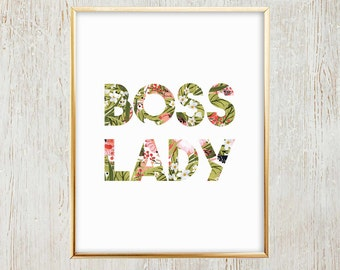 Boss Lady Printable Wall Art/Decor