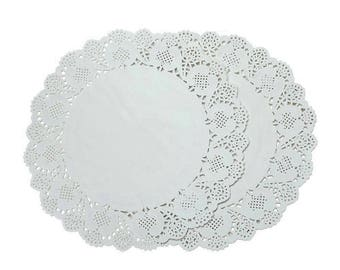 "SALE! 100 ct. 7.5"" White Paper Lace Doilies Wedding Scrapbooking Cardmaking"