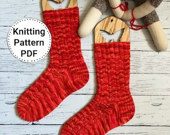 Knitting Pattern for Socks, Sock Pattern, PDF Knitting Pattern, Instant Download, Knitting Pattern Socks