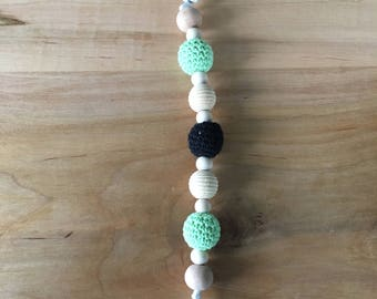 Natural Wood Soother Clip/ Dummy Clip / Pacifier Clip