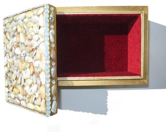 Venice Beach Shells and rhinestone encrusted box made with love